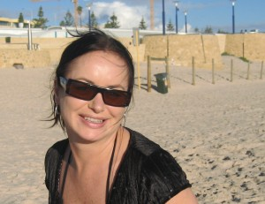Me at Scarborough Beach, Perth with the family.